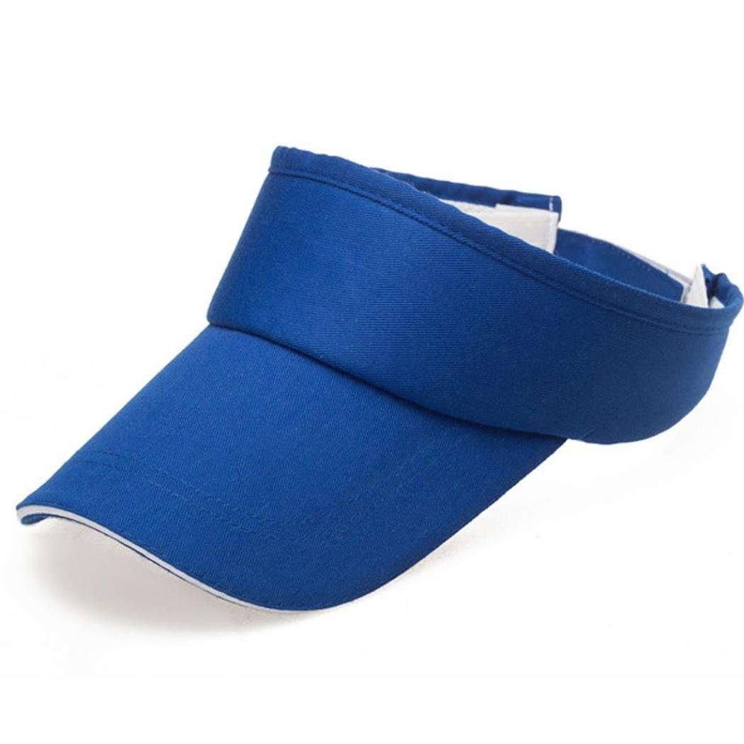 Adult Athletic Mesh Visor Men Women Sport Sun Visor Adjustable Cap (Blue)