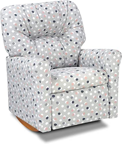 Dozydotes Contemporary Free Dots French Grey Kids Rocker Recliner Chair