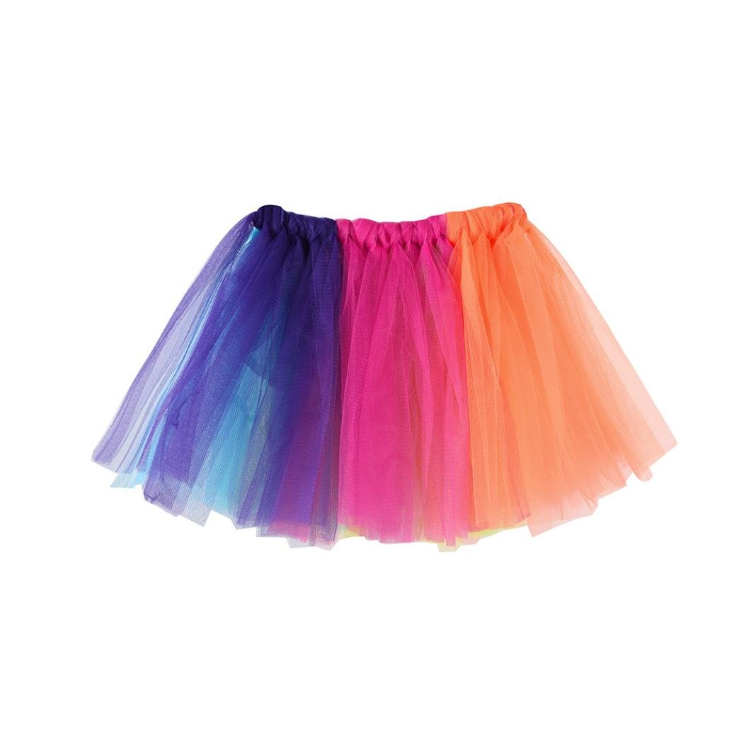 Inkach Baby Girls Tutu Skirt - Fashion Toddler Kids Dance Ballet Skirts Fluffy Tulle Petticoat (G)