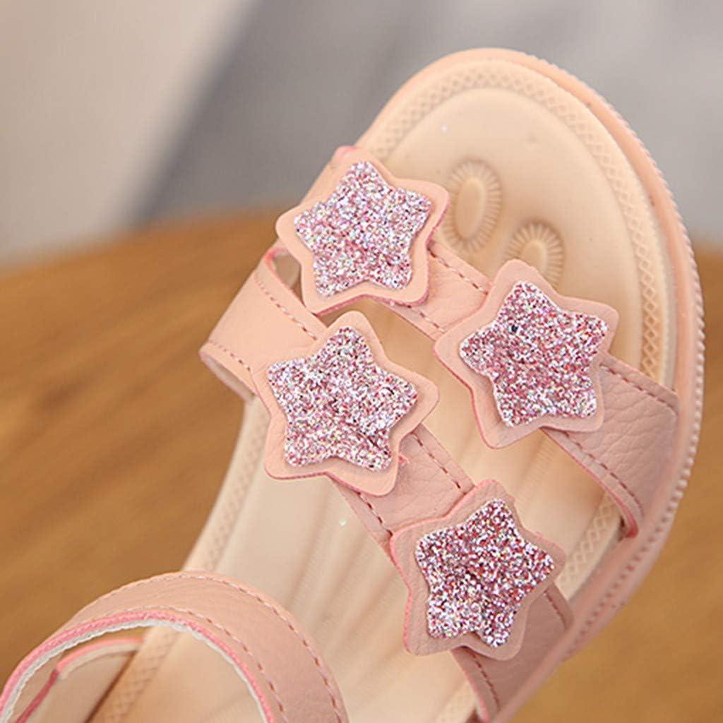 Children Sandals Jifutan Toddler Infant Kids Baby Girls Bling Stars Sequins Bling Princess Beach Shoes
