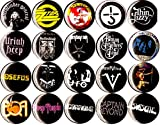 70s STONER ROCK NEW set of 20 1'' inch (25 mm) button pin badge hard nwobhm SLUDGE DOOM AOR heavy metal