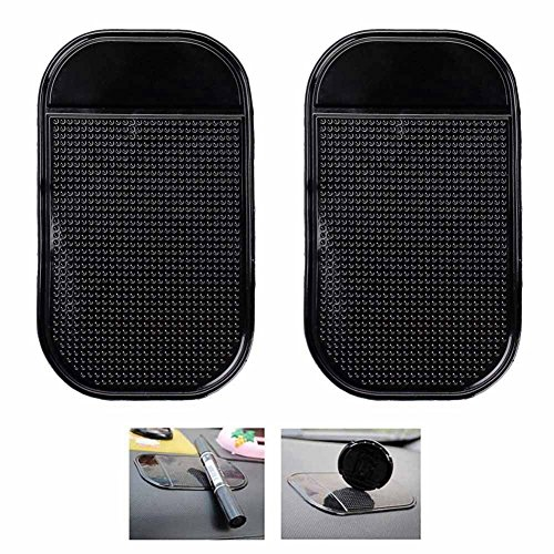 Alotm 2Pack Non-Slip Car Dash Sticky Pads, Heat Resistant Anti-Slip Mats, Cell Phone Mount Holder Mat Compatible with Huawei Google Nexus 6P Galaxy S7 Edge S7 S8 Plus Note - Hud Radar Detector