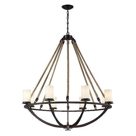 Amazon.com: Cuerda Natural Lámpara de araña, 63043-8, 60 ...