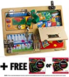 Lock & Latches Board + FREE Melissa & Doug Scratch Art Mini-Pad Bundle [95402]