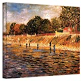 Art Wall Banks of The Seine by Vincent Van Gogh Gallery Wrapped Canvas, 24 by 32-Inch