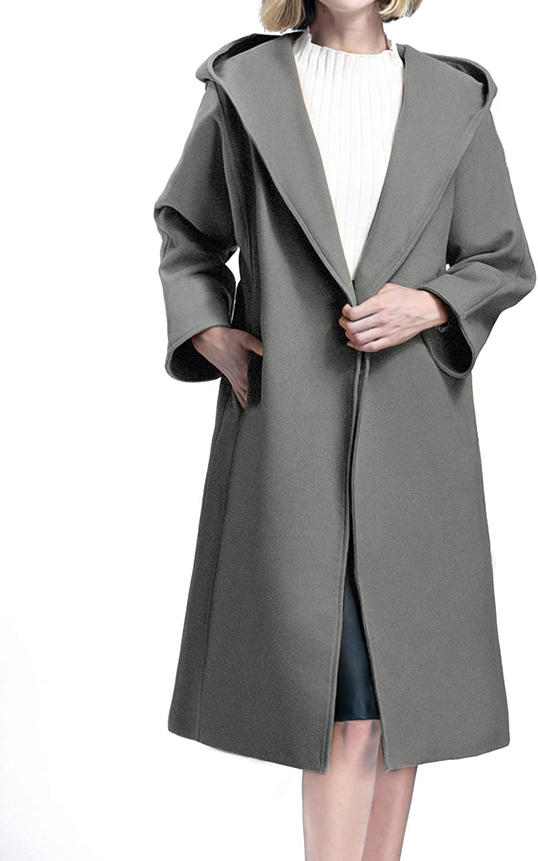 Auxo Cappotto Donna Lungo Cappotti Invernale Elegante Parka Lunghi Giacche Giubbotto Cardigan