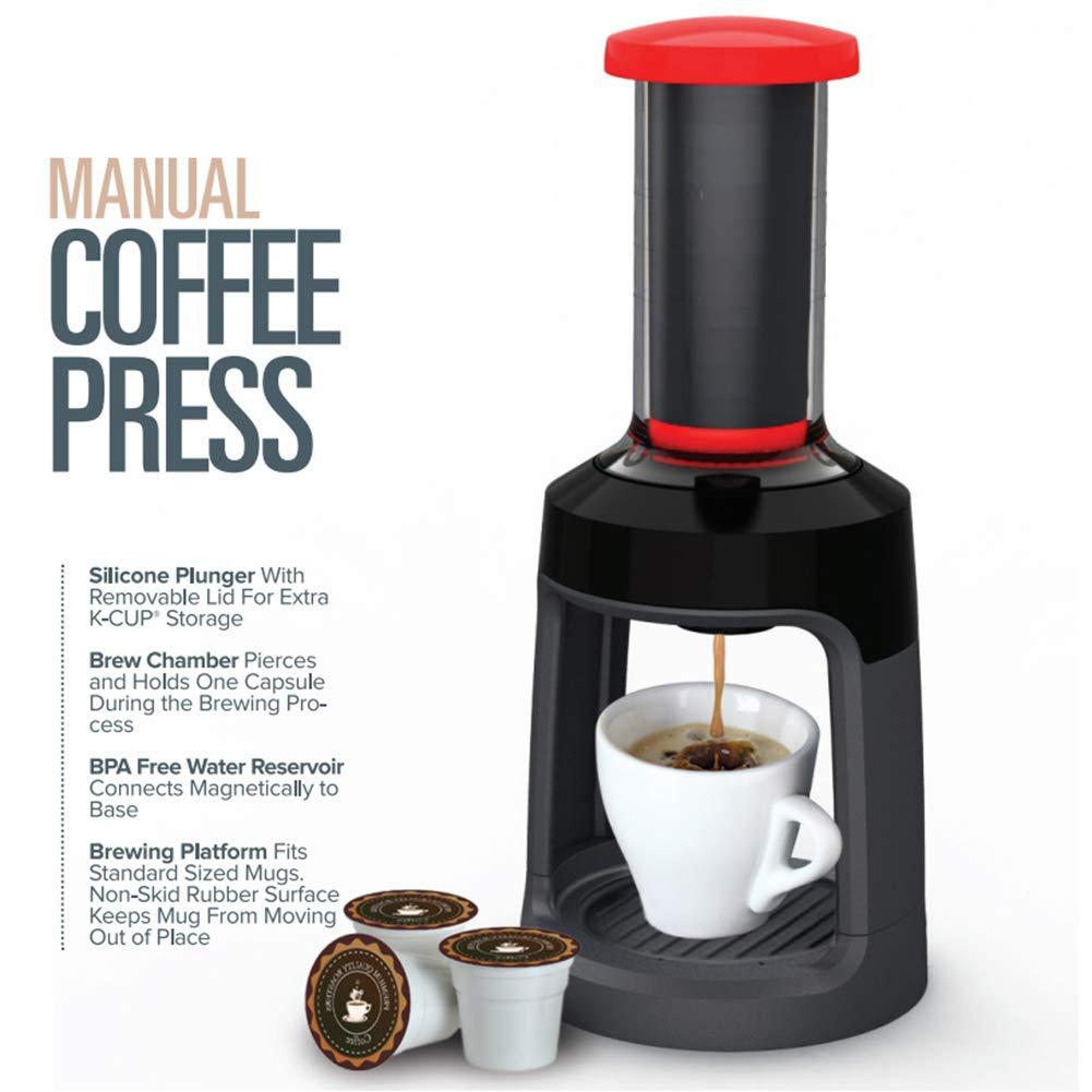Hand grinder,longdelaY6 Portable Manual Hand Press Coffee Maker Plunger Capsule Brewer Kitchen Tool