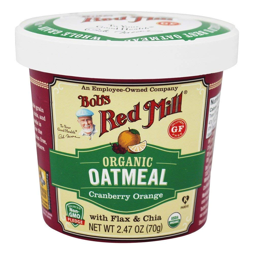 Bob's Red Mill Organic Gluten-Free Oatmeal Cup, Cranberry Orange, 2.47 OZ (Pack of 3)