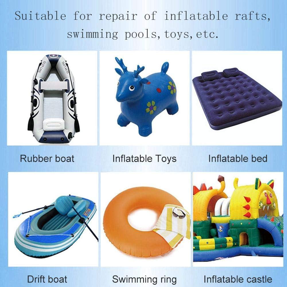 Lot de 3 Kit de r/éparation de kayak Kit de r/éparation de patch adh/ésif pour bateau pneumatique Kit de r/éparation de matelas pneumatique B/âche PVC /étanche 2xpatch adh/ésif+1xadh/ésif