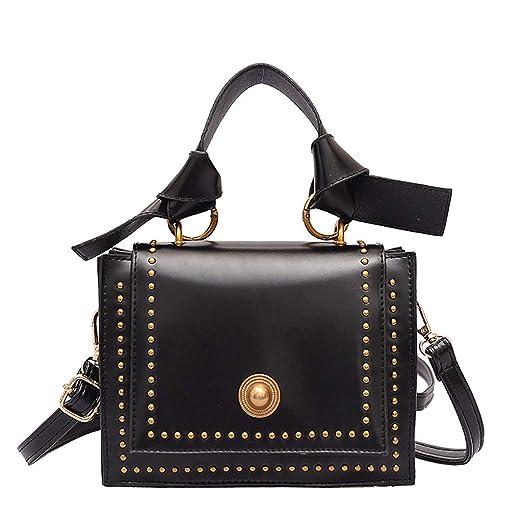 95ecf40ca78 Amazon.com: Messenger Bag Women Studded Versatile Texture One ...