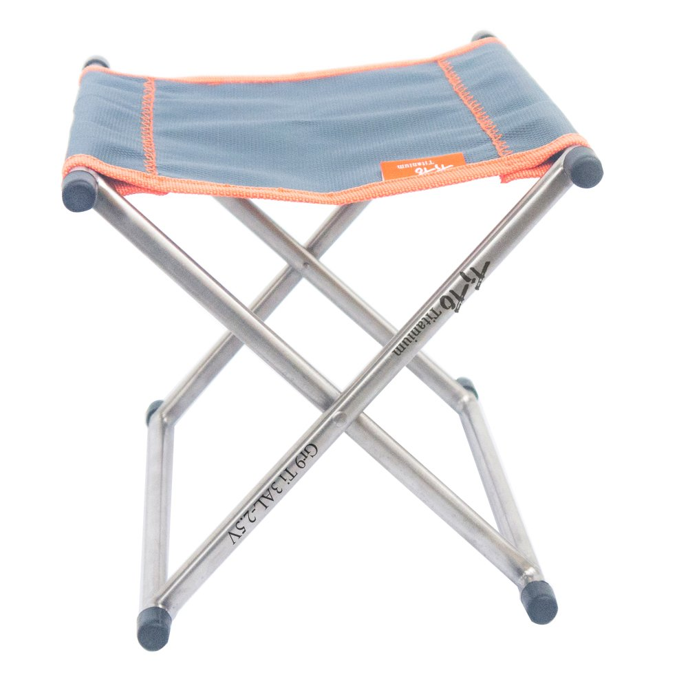 TiTo Ultralight Outdoor Camping Titanium Folding Chair Stool Only 185g with Carry Bag by TiTo