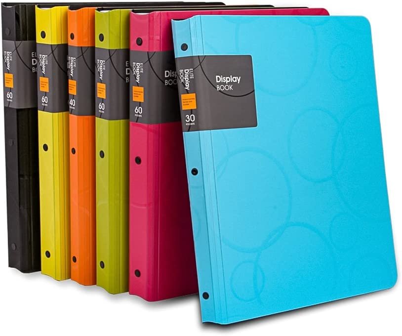 Zhi Jin 30Pockets A4 Presentation Book Protector Bubble Pattern Inserts Display Document Folders 60Pages for Office Music Sheets Artworks Blue