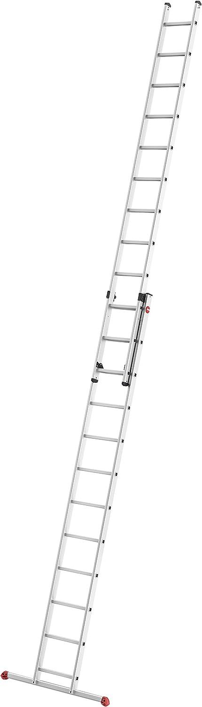 Hailo S80 ProfiStep Duo 7212-007 - Escalera corredera (Aluminio, 2 x 12 peldaños, se Puede Utilizar Individualmente, soporta hasta 150 kg), Color Plateado: Amazon.es: Bricolaje y herramientas