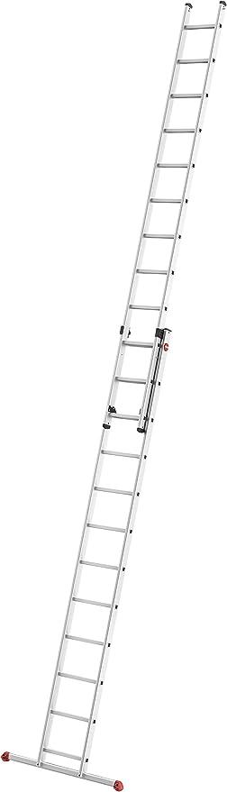 Hailo S80 ProfiStep Duo - Escalera de Aluminio (2 x 9 peldaños, Escalera utilizable Individualmente, soporta hasta 150 kg), 7209-007: Amazon.es: Bricolaje y herramientas