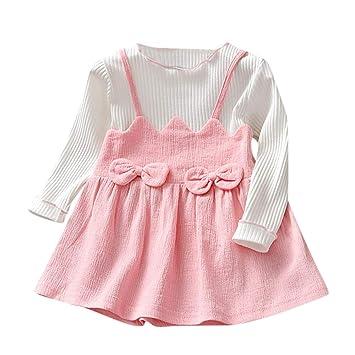 a7d3bdc6b30c4 ワンピース 赤ちゃん服 ベビー服 Glennoky 3色 偽2点セット 学院風 スカート ドレス キレイ