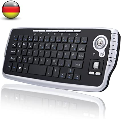 Mini Bluetooth Wireless Teclado, BEST Runner QWERTY Keypad inalámbrico portátil Handheld Multimedia con trackball Reino Unido 2.4 GHz Touchpad para TV X Caja De Ordenador negro negro: Amazon.es: Informática