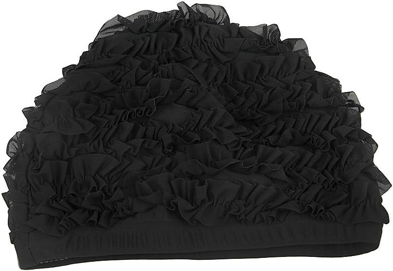 RUIXIA Bonnet de Bain Femmes Cap Chapeau de Natation Piscine Plage en Nylon Imperm/éable Protection des Oreilles pour Adultes Longs Cheveux Filles Nager Plonger Voyage Accessoires Nageurs