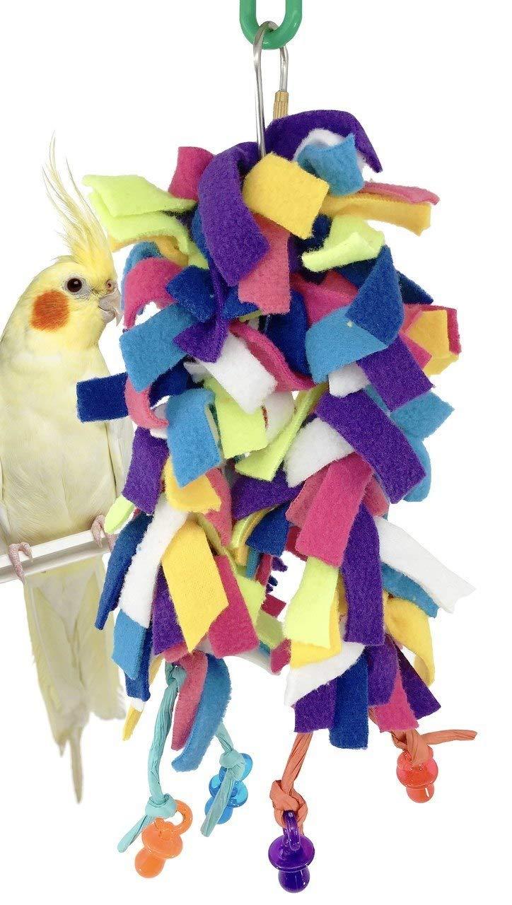 Bonka Bird Toys 1680 Paci Fluff Bird Toy Parrot Cage Blanket Cages Parakeet Cockatiel Fleece Cover Pet Snuggle Birds Cozy Covers Bedding Aviary Plush Nesting Pets Parrots
