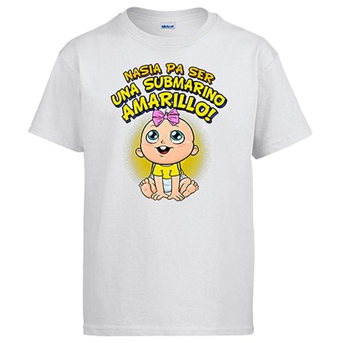 Camiseta nacida para ser una Submarino Amarillo Villarreal fútbol - Blanco, S