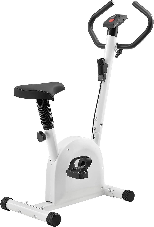 pro.tec] Bicicleta estática para casa con Pantalla LCD Blanco ...