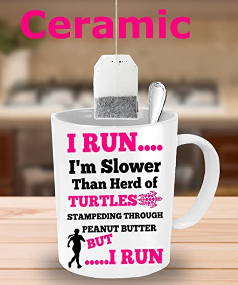 BEST FUNNY GIFTS Runners White Ceramic Coffee Mug Funny Best Personalized