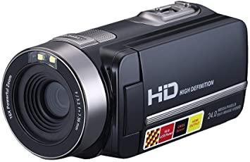 "Digital Video Camcorder,24 MP 1080P HD Camera DV 2.7"" LCD Screen Portable Night Vision Camera"