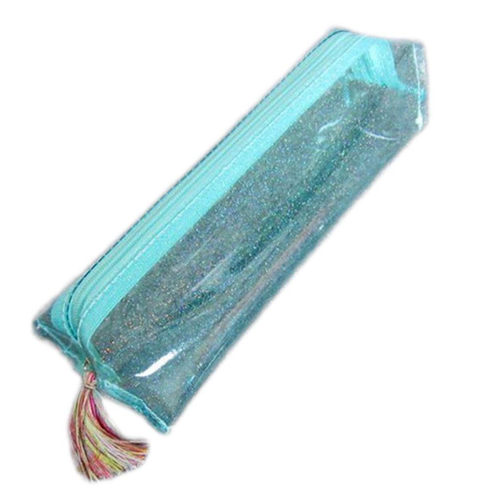 color Sky-blue 20x8.5x5cm cosanter l/ápiz funda borla de purpurina brillante sint/ética piel maquillaje gafas bolsa para chica mujer