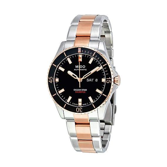 a8ab29a18571 Mido Ocean Star Captain V Reloj de hombre automático 42mm correa de acero  doble tono M026