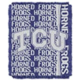 The Northwest Company NCAA TCU Horned Frogs Double Play Jacquard Throw, 48'' x 60''