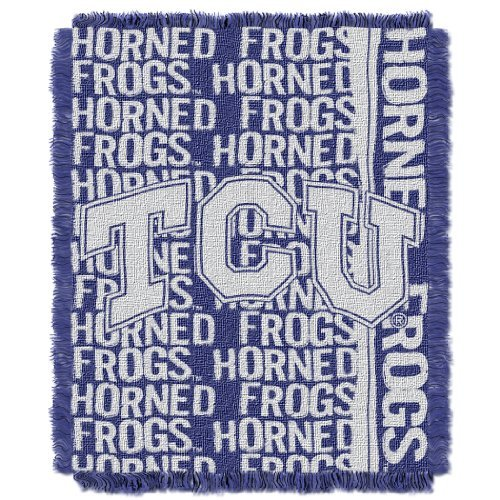 The Northwest Company NCAA TCU Horned Frogs Double Play Jacquard Throw, 48'' x 60'' by The Northwest Company