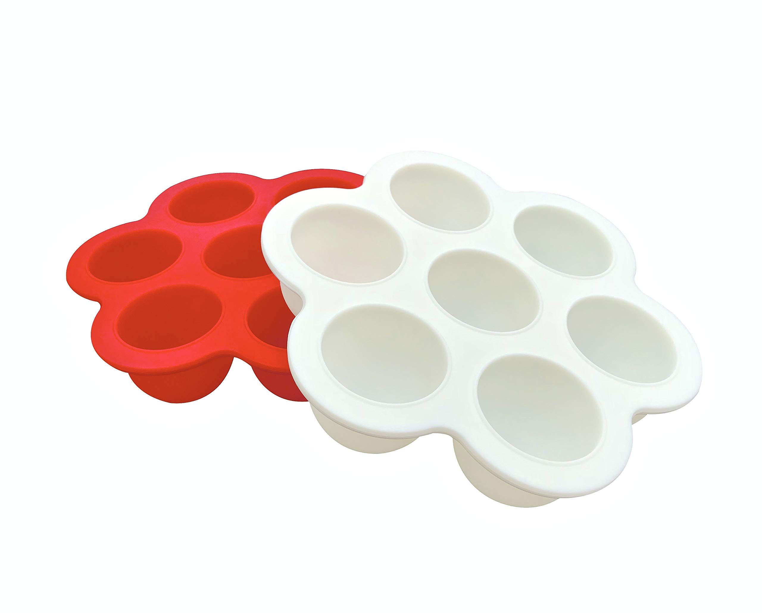2-PACK Silicone Egg Bites Molds for Instant Pot Mini 3 Quart Pressure Cooker Accessories - Bpa Free Silicone Molds for Instant Pot 3 qt, 6 qt Accessory - Baby Food Freezer Trays with lids 1oz portions