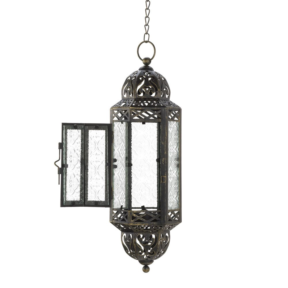 Amazon.com: Intricate Hanging Moroccan Lantern - 1 Unit: Home ...
