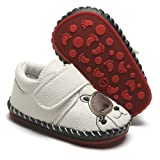 HsdsBebe Baby Boys Girls Pu Leather Hard Bottom
