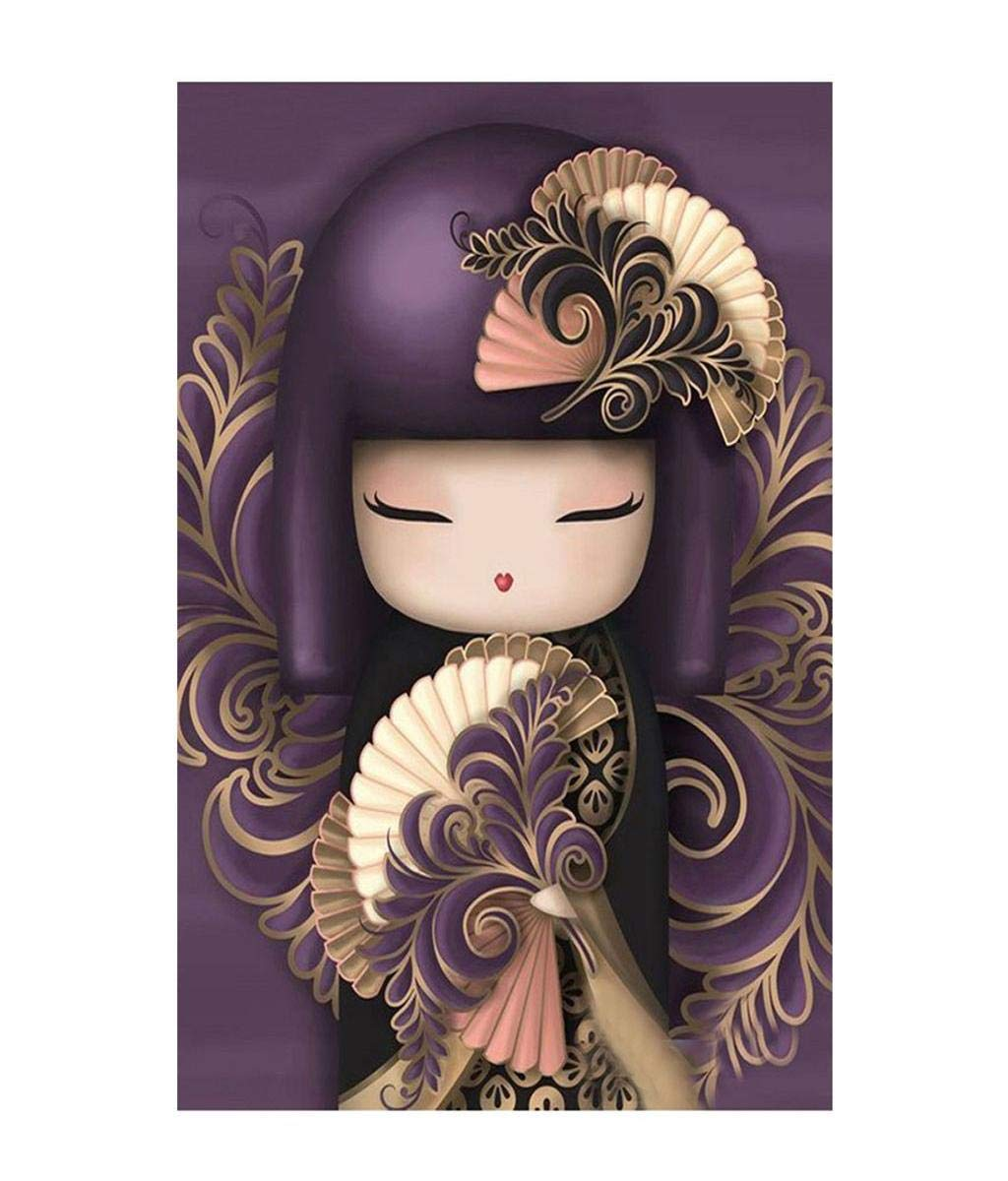 """Barlingrock 5D DIY Pasted Diamond Painting for Adult Kid, The Japanese Cartoon Dancer Rhinestone Paintings Full Drill Embroidery Cross Stitch Craft for Living Room Bedroom Home Wall Decor-12x16"""""""