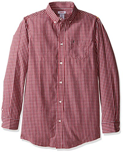 IZOD Kids Little Boys Alternating Heather Check Shirt, Red, 6 ()