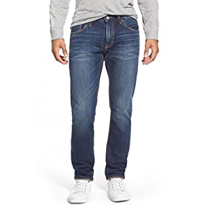 Jean Shop Skinny Fit Selvedge Jeans, Blue (Dark Medium Wash)
