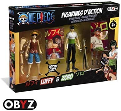 ABYstyle - Pack Figuras Once Piece Action Figure Luffy y Zoro ...