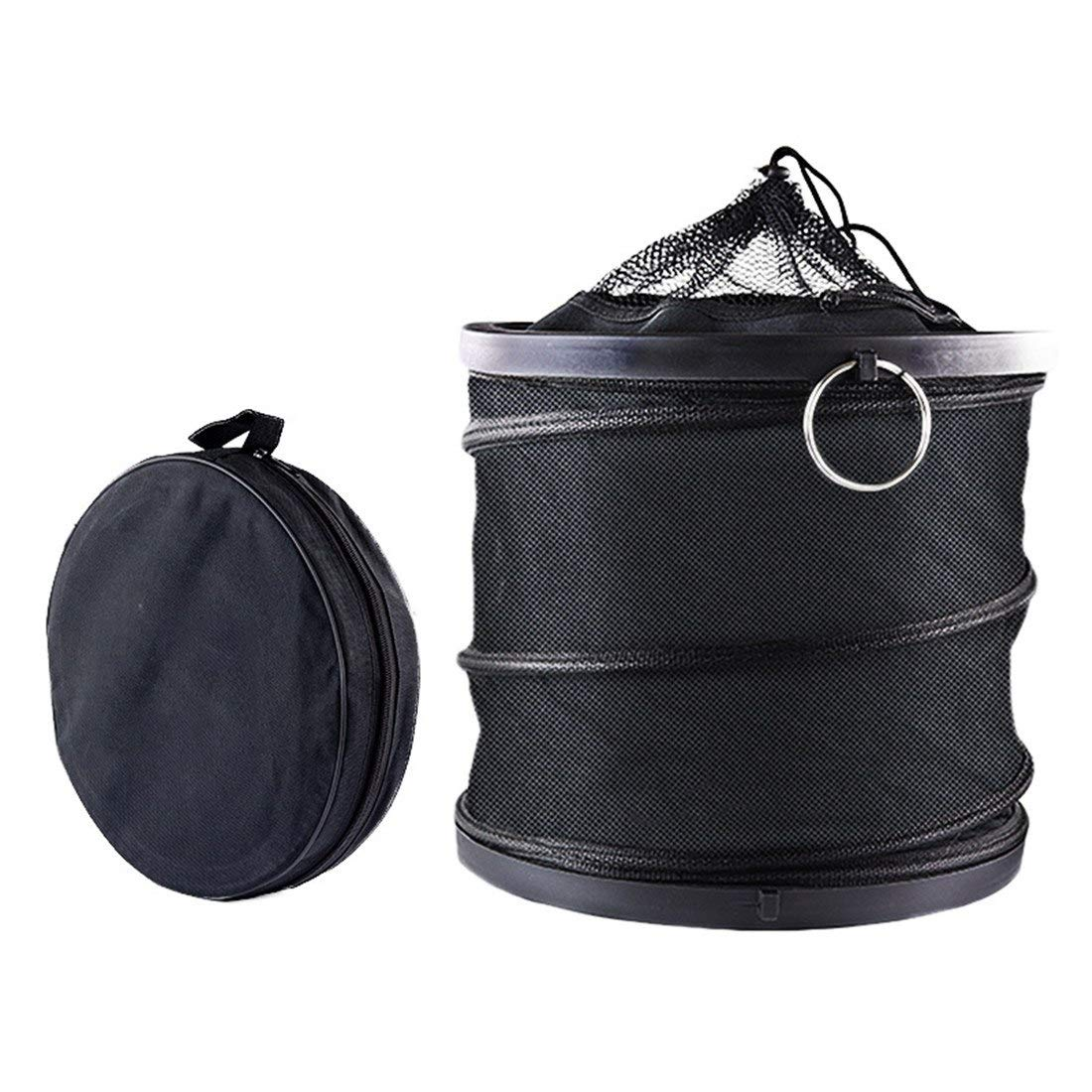 Autopeck Collapsible Bucket Multipurpose Folding Car Wash Fishing Oxford 12L Large Capacity Barrel Storage Household Picnic Easy to Store Compact Container Lightweight Durable Handy Pocket Black