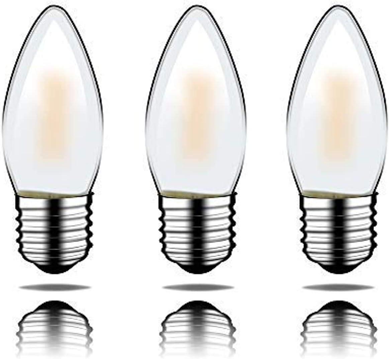 Portalámparas LED E27, 12 V CC, entrada regulable, 2700 K, temperatura de color 4 W, 400 lm, sustituye a una bombilla de 40 W, 3 unidades C35-12 V-E27-4 W (Scrub)