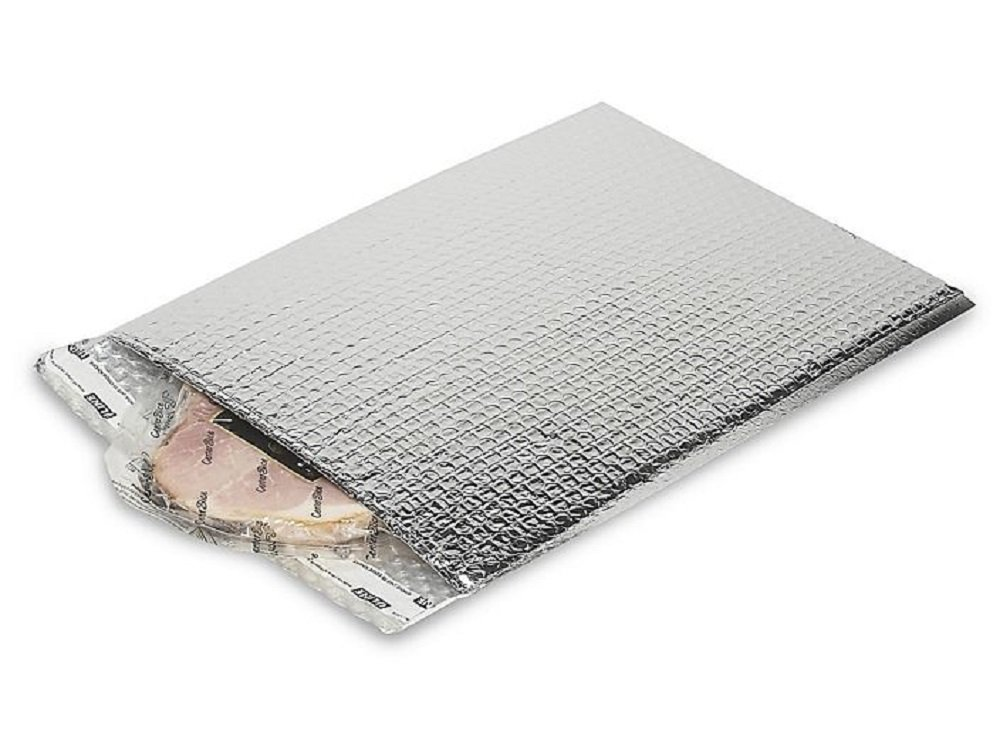 Thermal Insulated Bubble Mailers 6.5 x 10.5 Food Grade Padded envelopes 6 1/2 x 10 1/2 by Amiff. Pack of 20 Silver Cushion envelopes. Peel and Seal. Metallic foil. Mailing, Shipping, Packaging.