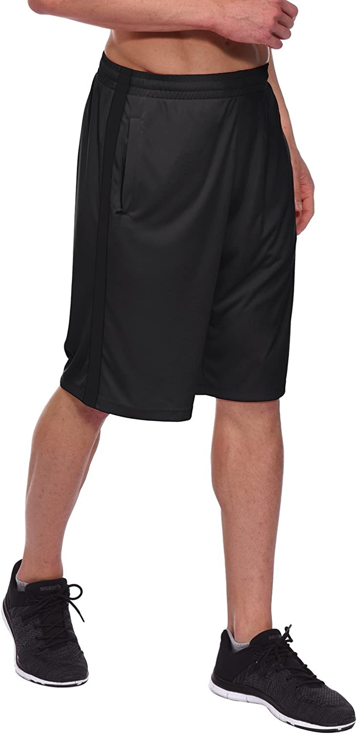 BALEAF Mens 11 Athletic Basketball Shorts Lightweight Training Workout Zipper Pockets Drawstrings