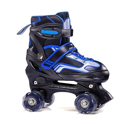 GBRALX Unisex Ajustable de 4 Ruedas Quad Roller Patines Botas Roller Skates Deportes al Aire Libre