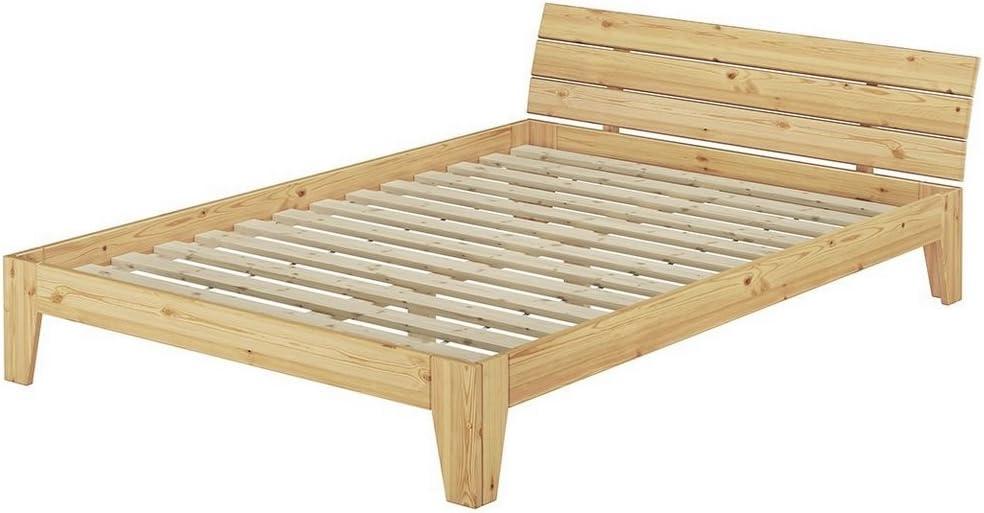 Erst-Holz Erst de Madera 60.62 – 14 – Cama futón (con somier Enrollable – 140 x 200 – Madera Maciza Natural
