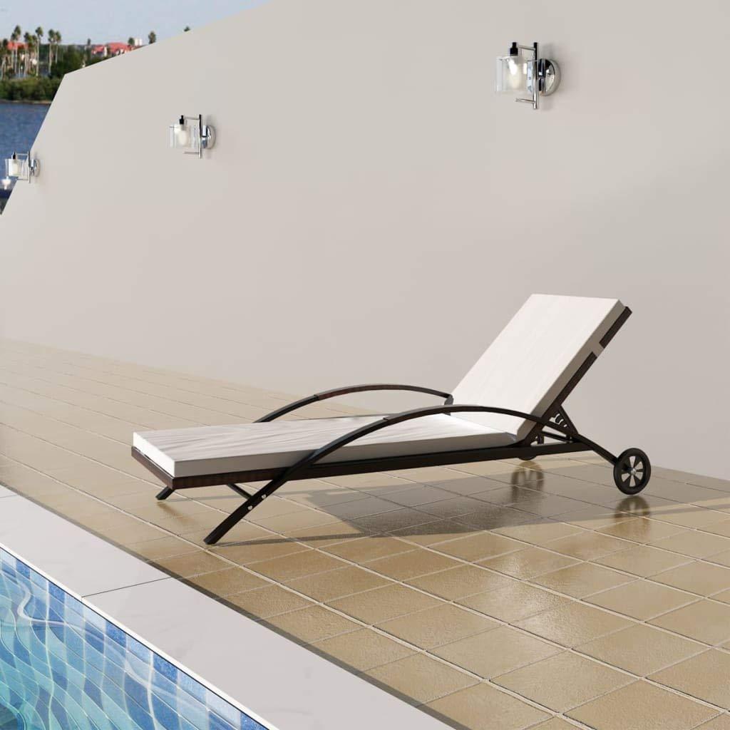 Amazon.com: vidaXL – ratán mimbre piscina tumbona tumbona ...