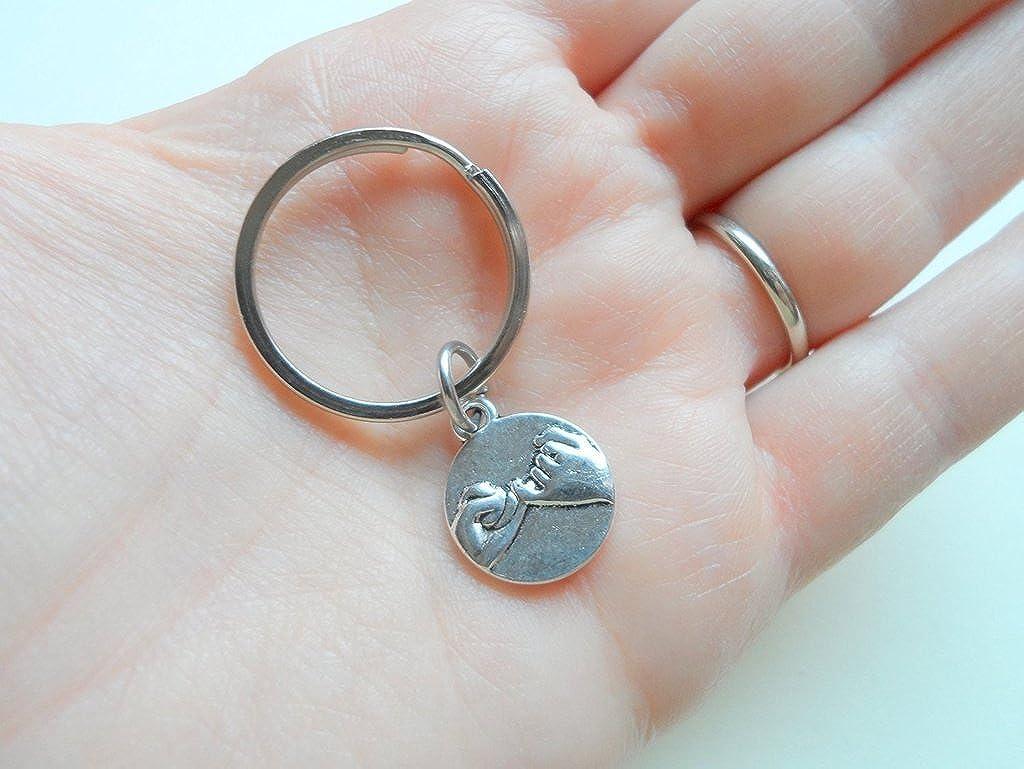 Jewelryeveryday Double Pinky Promise Charm Porte-cl/és; Couple Porte-cl/és Promise Cadeau