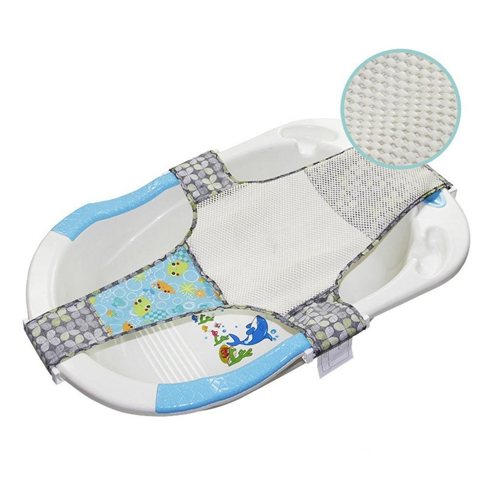 Kangaroobaby Newborn Adjustable Bath Seat Net Mesh Sling Safety Bathing Bed Support (Blue) CNUKKB01