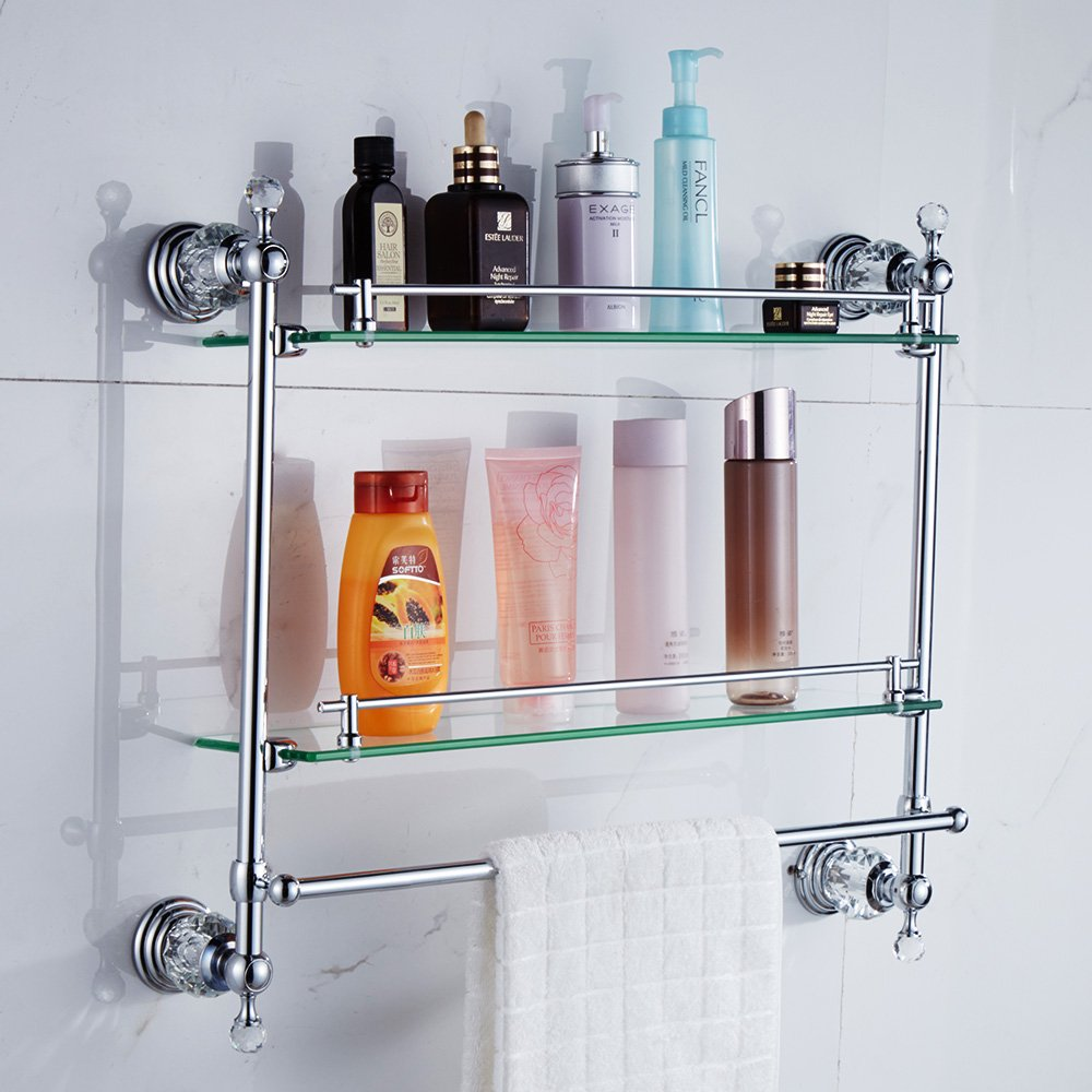 organizer ebay bathroom racks saver space tier storage itm bamboo shelf shelves shelving bath