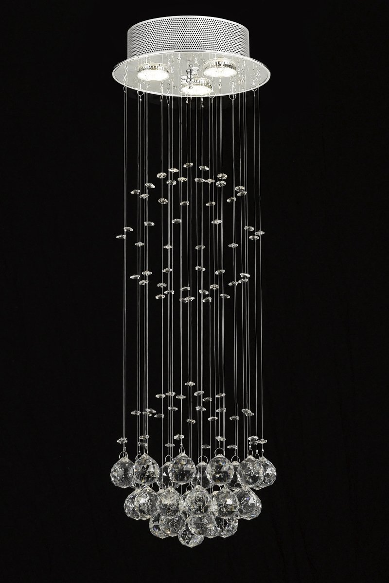 Modern contemporary chandelier rain drop chandeliers lighting modern contemporary chandelier rain drop chandeliers lighting with crystal balls h31 x w10 bubble chandelier amazon arubaitofo Images