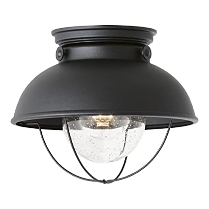Sea gull lighting 8869 12 sebring one light outdoor flush mount sea gull lighting 8869 12 sebring one light outdoor flush mount ceiling light with aloadofball Image collections