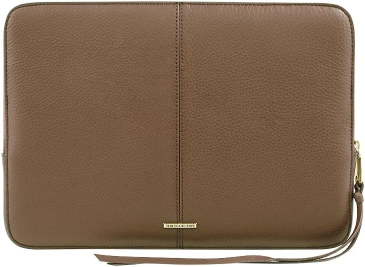 "Rebecca Minkoff Moto Sleeve for 13 Inch MacBook, 13"" Laptops - Almond Pebble Leather"